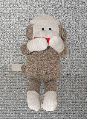 Photograph - Sock Monkey by Caroline Stella