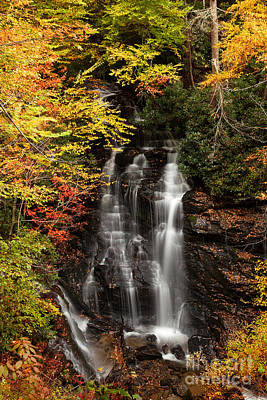Photograph - Soco Falls Dresssed For Autumn  by Deborah Scannell