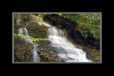 Photograph - Soco Falls Small Cascade North Carolina by Charles Beeler