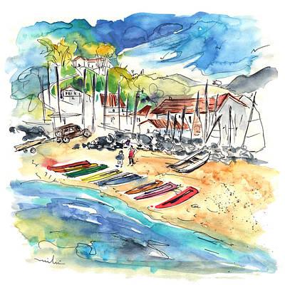 Canoe Drawing - Socoa 06 by Miki De Goodaboom