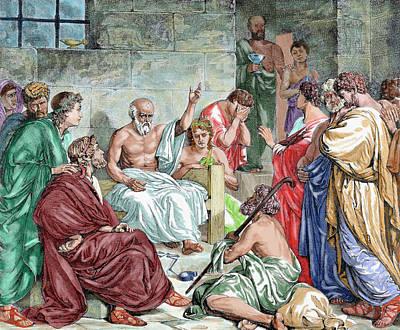 Disciples Photograph - Socrates (c 469-399 Bc by Prisma Archivo