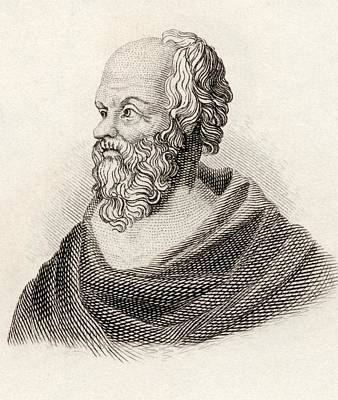 Socrates From Crabbes Historical Dictionary Art Print by English School