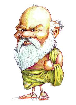Socrates Art Print by Gary Brown