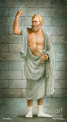 Philosophy Painting - Socrates... by Will Bullas