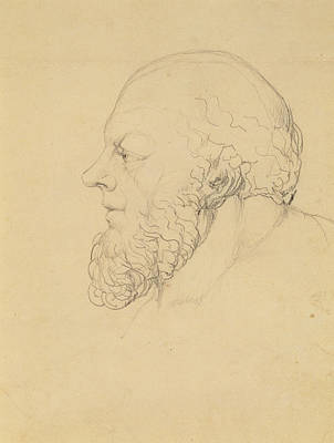 Side View Drawing - Socrates by William Blake
