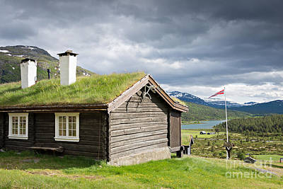 Photograph - Sod Roof Log Cabin by IPics Photography