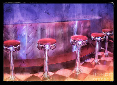 Soda Fountain Stools II Art Print
