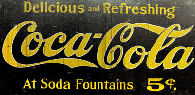 Photograph - Soda Fountains Sign by Kristie  Bonnewell