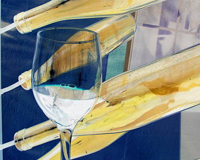 Art Print featuring the photograph Soda Or Wine Is Fine by Marie Neder