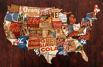 Mountain Mixed Media - Soda Pop America by Design Turnpike