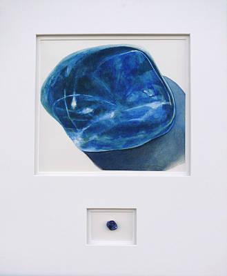 Painting - Sodalite Stone by Cory Calantropio