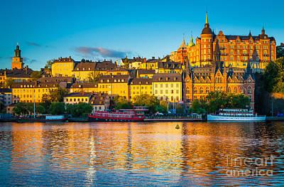 Stockholm Photograph - Sodermalm Skyline by Inge Johnsson