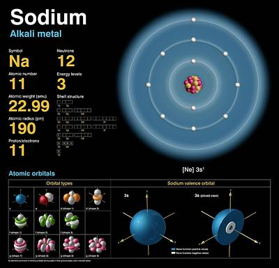 Neutron Photograph - Sodium by Carlos Clarivan
