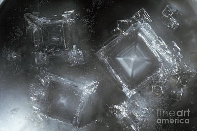 Sodium Hydroxide Crystals Art Print by Charles D Winters