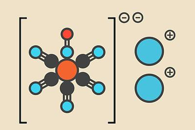 Sodium Nitroprusside Molecule Art Print