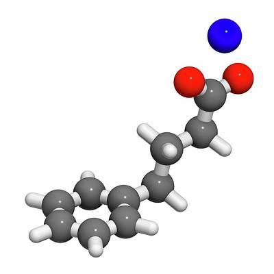 Sodium Phenylbutyrate Drug Molecule Art Print by Molekuul