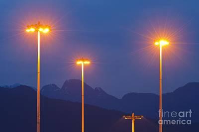 Gas Lamp Photograph - Sodium-vapor Street Lights by David Nunuk