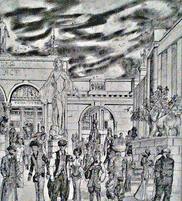 Drawing - Sodom Marketplace   by George Harrison