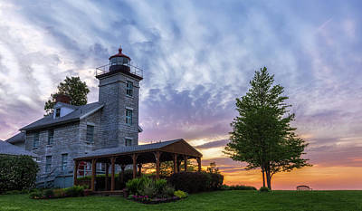 Sodus Bay Lighthouse Art Print by Mark Papke