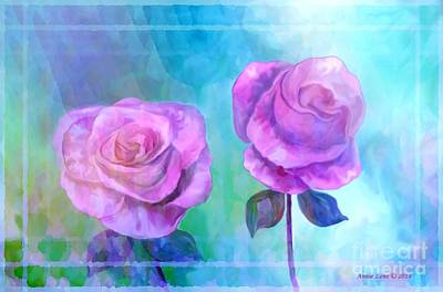 Painting - Soft And Beautiful Roses by Annie Zeno