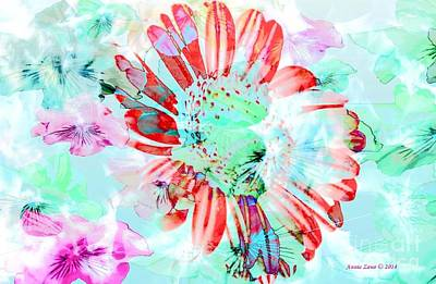Painting - Soft Beautiful Flower In Garden by Annie Zeno