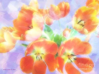 Photograph - Soft Beautiful Tulips by Annie Zeno