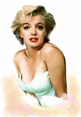 Painting - Soft Beauty Vi   Marilyn Monroe by Iconic Images Art Gallery David Pucciarelli