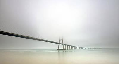 Portugal Photograph - Soft Bridge by Jorge Feteira