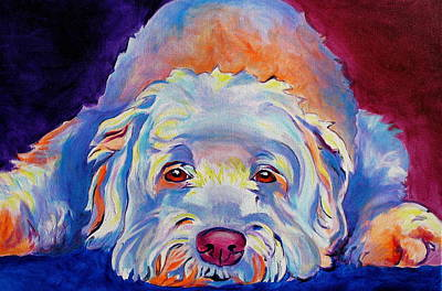 Dawgart Painting - Soft Coated Wheaten Terrier - Guinness by Alicia VanNoy Call