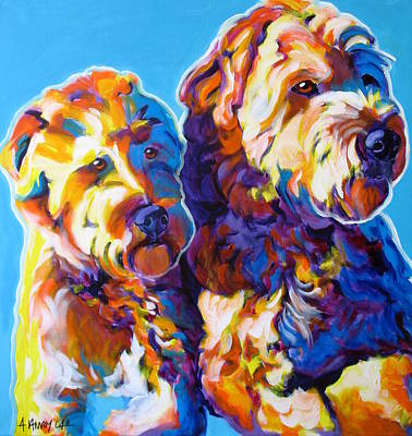 Soft Coated Wheaten Terrier - Max And Maggie Art Print by Alicia VanNoy Call