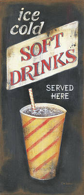 Movie Theater Painting - Soft Drinks by Kim Lewis