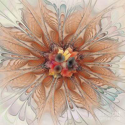 Apophysis Digital Art - Soft Fractal Flower by Klara Acel