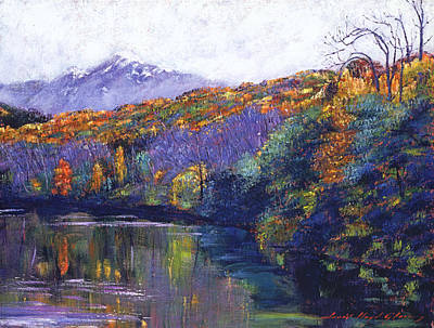 Tree Traditional Art Painting - Soft Lake by David Lloyd Glover