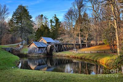 Old Mills Photograph - Soft Light At Mabry Mill by Adam Jewell