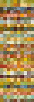 Painting - Soft Palette Rustic Wood Series Collage L by Michelle Calkins