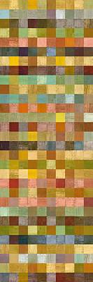 Painting - Soft Palette Rustic Wood Series Collage Lll by Michelle Calkins