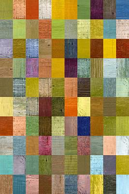 Painting - Soft Palette Rustic Wood Series With Stripes 2x3 by Michelle Calkins