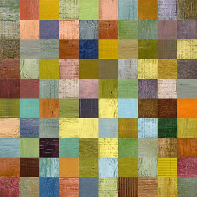 Painting - Soft Palette Rustic Wood Series With Stripes L by Michelle Calkins