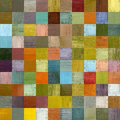 Painting - Soft Palette Rustic Wood Series With Stripes Ll  by Michelle Calkins