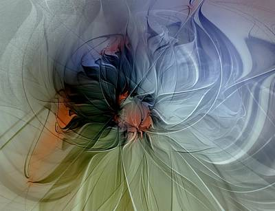 Framed Art Digital Art - Soft Pastels by Amanda Moore