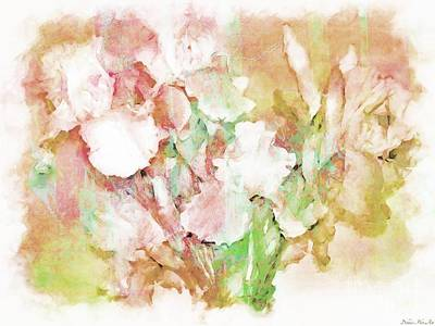 Soft Pink Iris Photo Art Print by Debbie Portwood