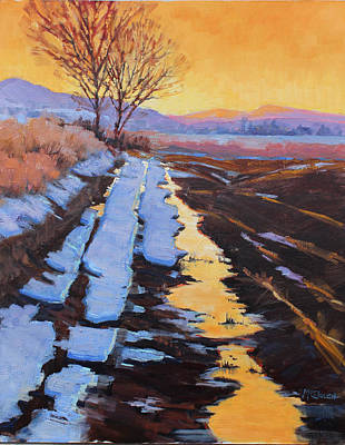 Painting - Soft Reflections At Sunset by Susan McCullough