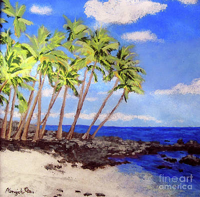 Reverse Glass Painting - Soft Seabreeze by Susan Plenzick