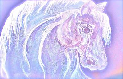 Lucky H Art Mixed Media - Soft Soul Horse  by Heather Grieb