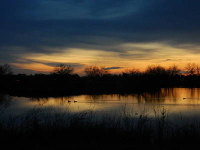 Mark Wagner Wall Art - Photograph - Soft Sunrise Over The Pond by Mark Wagner