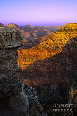 Photograph - Soft Sunset At The Grand Canyon by Deborah Smolinske