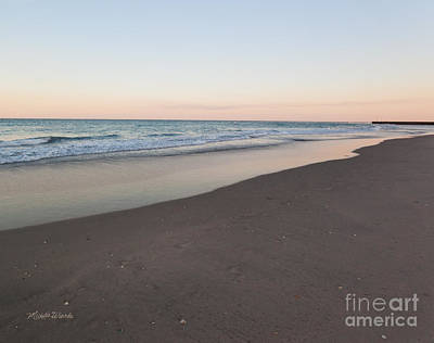 Shoreline Painting - Soft Sunset by Michelle Wiarda