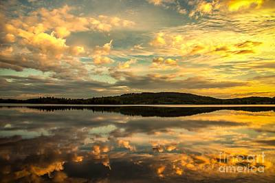 Art Print featuring the photograph Soft Sunset by Rose-Maries Pictures