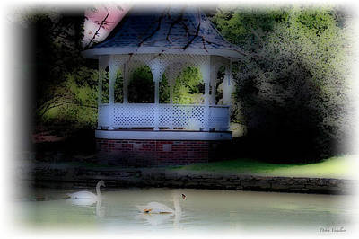 Photograph - Soft Touch 8 Gazebo Lake by Debra     Vatalaro