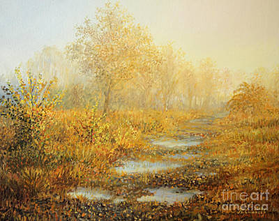 Beautiful Scenery Painting - Soft Warmth by Kiril Stanchev